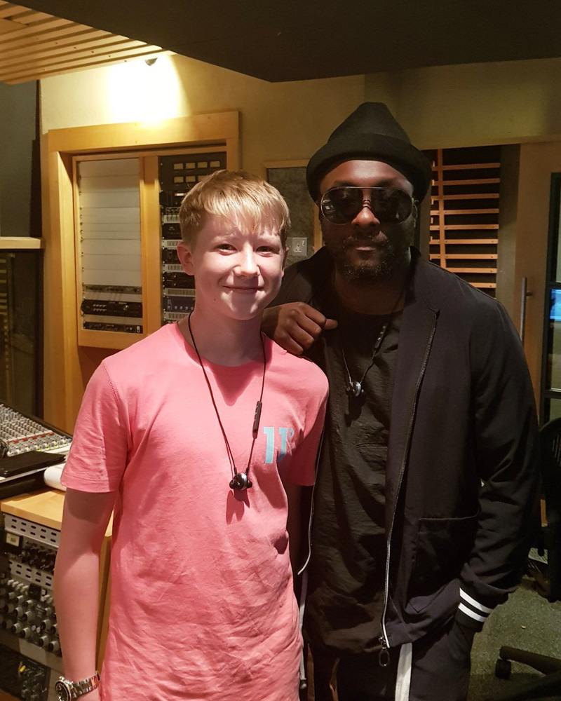 Perry Cooke with mentor Will.i.am